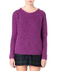 American Vintage - Purple Woolblend Jumper - Lyst