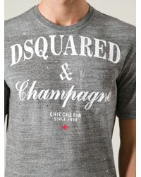DSquared²   Gray Champagne Tshirt for Men   Lyst