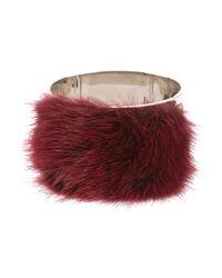 Fendi | Red Fur Cuff | Lyst