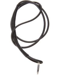 Lanvin | Black Leather Key Holder Necklace for Men | Lyst