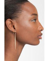 Mizuki | Metallic Icicles Pavé Diamond Linear Earrings | Lyst