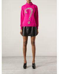Boutique Moschino - Purple Question Mark Sweater - Lyst