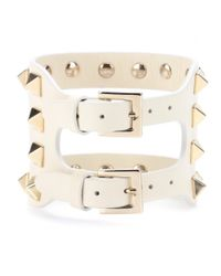 Valentino - Natural Va Va Voom Leather Bracelet - Lyst