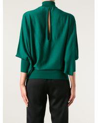 Vionnet | Green Keyhole Turtleneck Sweater | Lyst