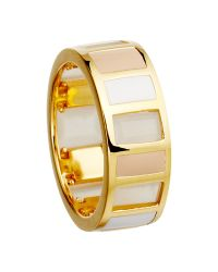 Astley Clarke | Metallic Colour Blush Gem Slice 18ct Gold Vermeil Stacking Ring | Lyst