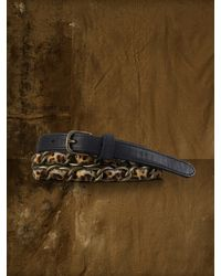 Denim & Supply Ralph Lauren - Brown Leopard Haircalf Chain Belt - Lyst