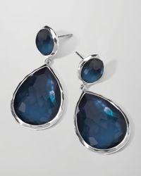 Ippolita | Blue Sterling Silver Wonderland Teardrop Snowman Post Earrings In Indigo | Lyst