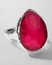 Ippolita | Metallic Sterling Silver Wonderland Teardrop Ring in Raspberry | Lyst