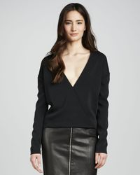 J Brand - Black Landon Deep-surplice Top - Lyst