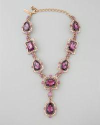 Oscar de la Renta | Purple Chandelier Crystal Necklace | Lyst