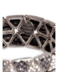Philippe Audibert - Gray Double-row Triangle Elasticated Bracelet - Lyst