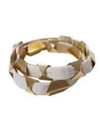 Ziba | Metallic Triangle Leather Wrap Bracelet | Lyst
