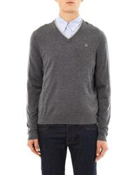 Brooks Brothers | Gray Merino-Wool V-Neck Sweater for Men | Lyst