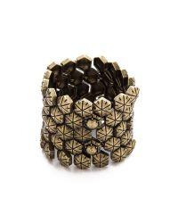 Giles & Brother - Metallic Hex Mesh Bracelet - Lyst