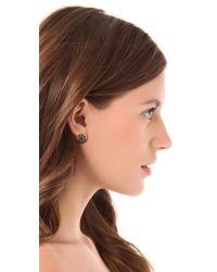 House of Harlow 1960 - Metallic Mini Crater Stud Earrings - Lyst