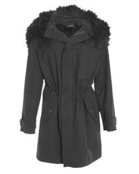 JOSEPH | The Anais Toscana Black Lambskin Coat | Lyst