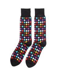 Paul Smith   Black Socks In Spot Print for Men   Lyst