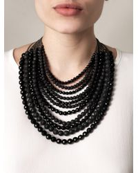 Rosantica | Black Raissa Onyx and Volcanic Lava Necklace | Lyst