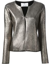 Allude | Metallic Coated Cardigan | Lyst