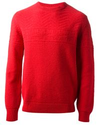 A.P.C. | Red Oslo Sweater for Men | Lyst
