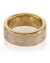 Astley Clarke | Metallic Peach Blush Honeycomb Ring | Lyst