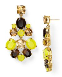 kate spade new york | Yellow Chandelier Earrings | Lyst