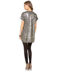 One Teaspoon - Metallic Lucky Star T Dress - Lyst
