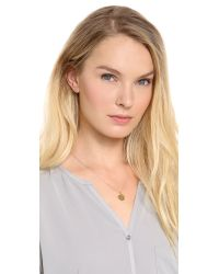 Sarah Chloe - Metallic Eva Engraved Pendant Necklace - N - Lyst