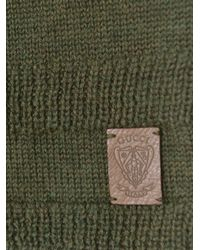 Gucci - Green Wool Scarf for Men - Lyst