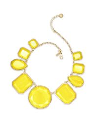 Kate Spade | Yellow Swirl Around Graduated Necklace | Lyst