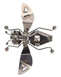 Lanvin | Metallic Bug Brooch | Lyst