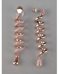 Luxury Fashion | Gold Spiral Earrings | Lyst