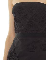 Nina Ricci   Black Razimir Rose Pleated Strapless Gown   Lyst