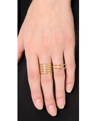 Sarah Chloe - Metallic Geo Parallel Ring - Lyst