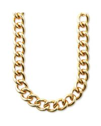 Anne Klein | Metallic Goldtone Medium Curb Chain Necklace | Lyst
