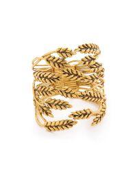 Aurelie Bidermann | Metallic Wheat Cuff | Lyst