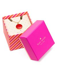 """kate spade new york - Paint The Town Red Boxed Pendant Necklace 18"""" - Lyst"""