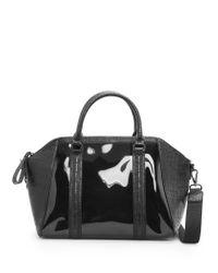 Mango - Black Transparent Panel Tote Bag - Lyst