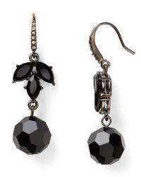 Carolee - Black Night Vision Drop Earrings - Lyst