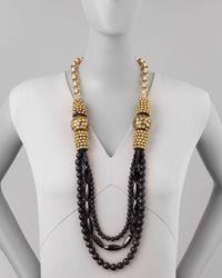 Devon Leigh - Black Onyx Multi-strand Necklace - Lyst