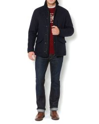 Howick - Blue Hathersage Quilted Wool Coat for Men - Lyst