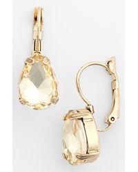 Tasha | Metallic Teardrop Earrings | Lyst