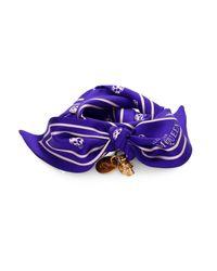 Alexander McQueen | Purple Skull Silk Scarf Bracelet | Lyst
