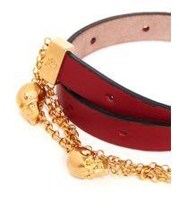 Alexander McQueen | Red Double Wrap Chain Bracelet | Lyst