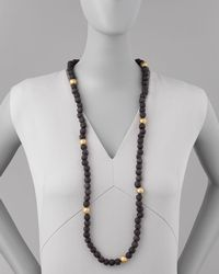 Ashley Pittman | Black Dark Horn Bead Necklace | Lyst