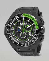 Brera Orologi | Gran Turismo Black Ip Watch Green for Men | Lyst