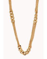 Forever 21 | Metallic Beaded Fringe Necklace | Lyst