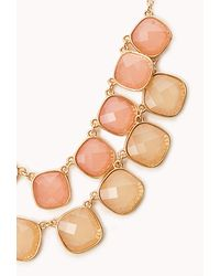 Forever 21 - Pink Dreamy Bib Necklace - Lyst