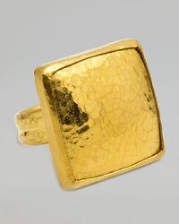 Gurhan - Metallic Amulet 24k Gold Large Square Ring - Lyst
