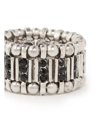 Philippe Audibert - Metallic Crystal Beaded Rings - Lyst